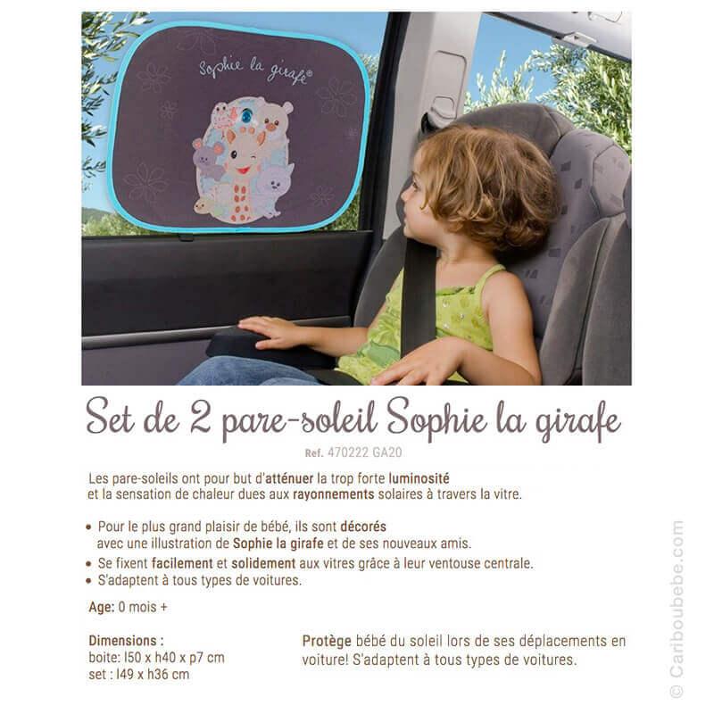 Set de 2 Pare-soleil Sophie La Girafe