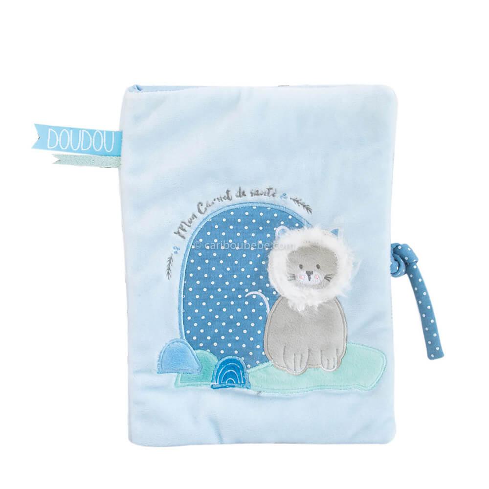 Protège Carnet de Santé Lion Bleu Doudou Cie