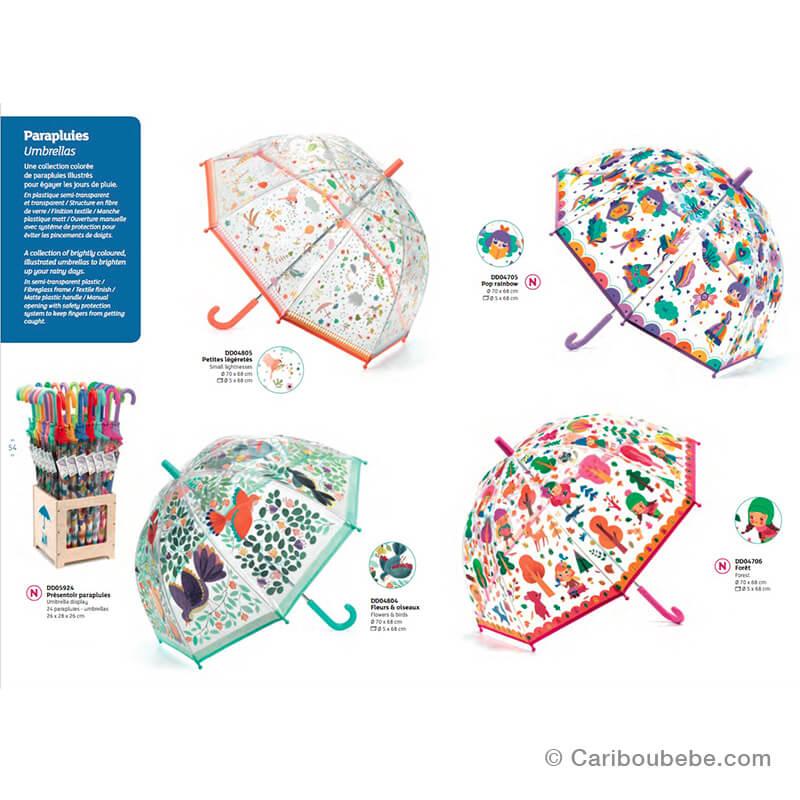 Parapluies Illustrés Semi-Transparent +3A Djeco