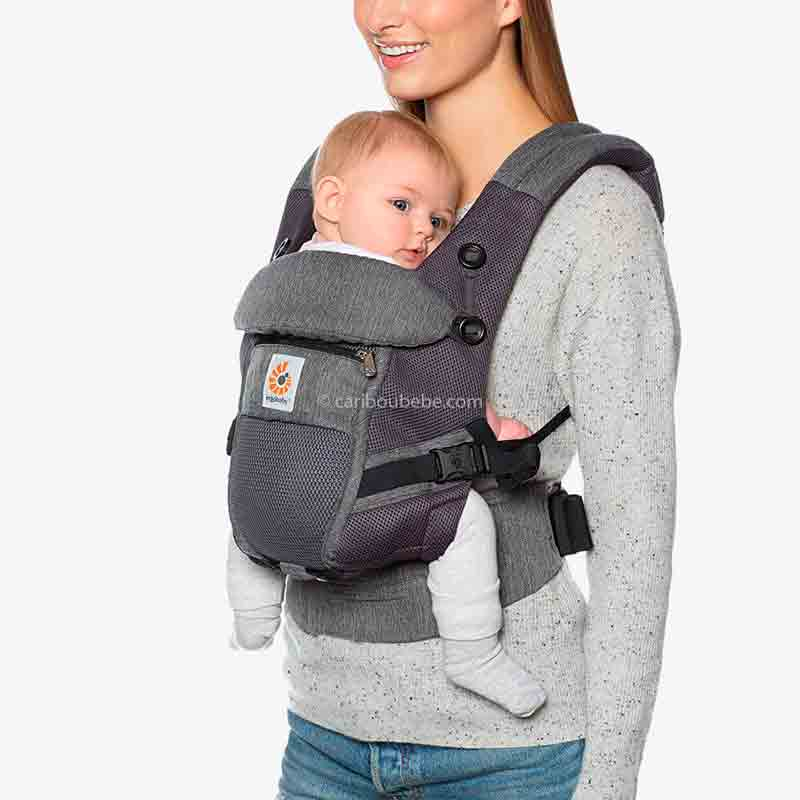 Porte-bébé Adapt Cool Air Mesh Gris chiné1 Ergobaby