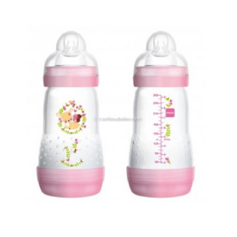 Biberon Easy Start Anti Colique 260ml Rose Mam Baby