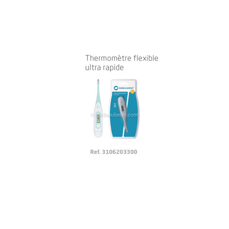 Thermomètre Flexible Ultra Rapide Bébé Confort