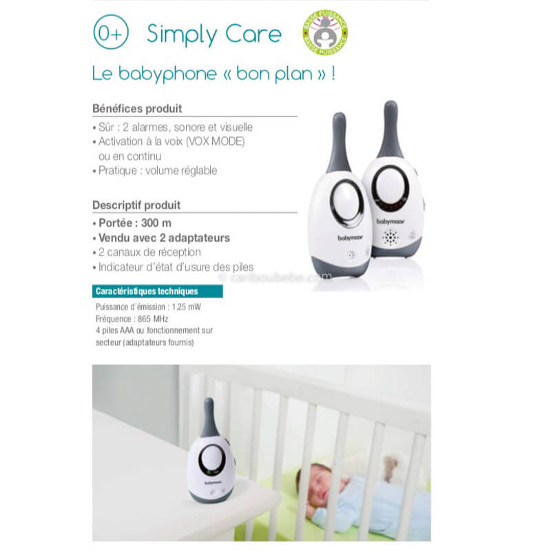 Écoute Bébé Simply Care New Color Babymoov