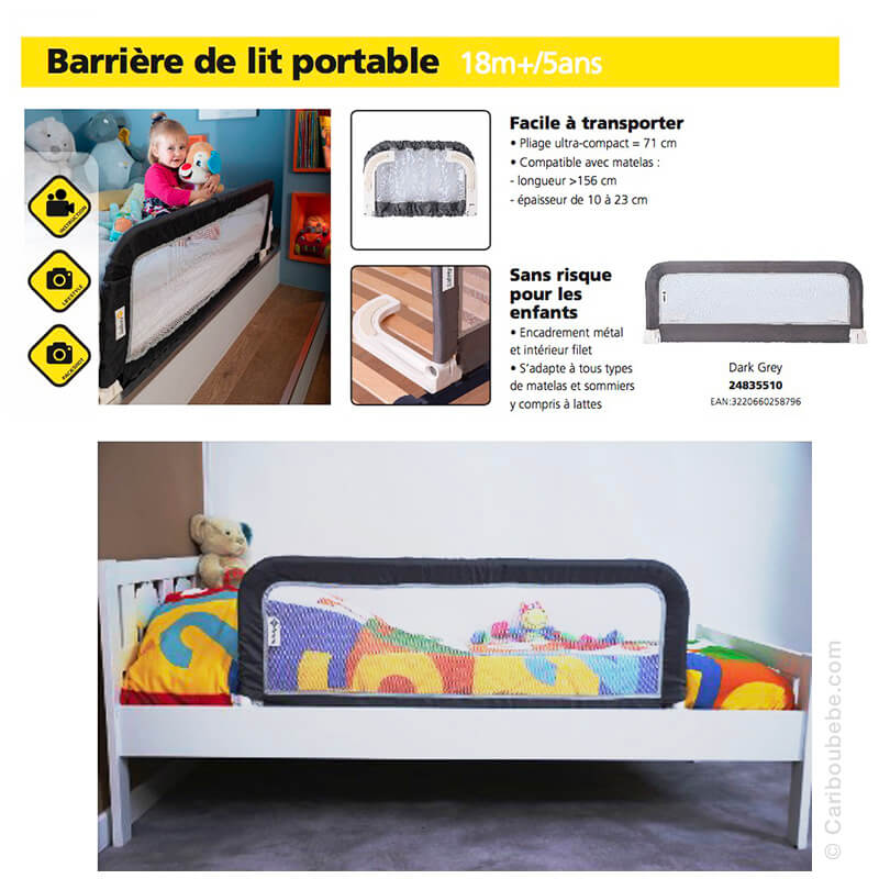 Barrière de Lit Portable XL 150cm Safety