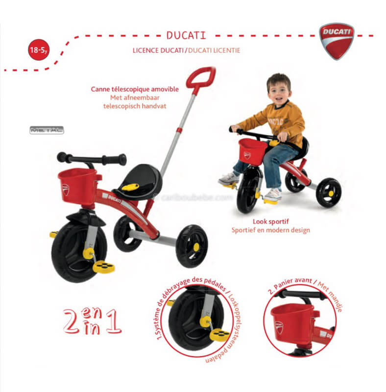 Tricycle U Go Ducati +18M Chicco