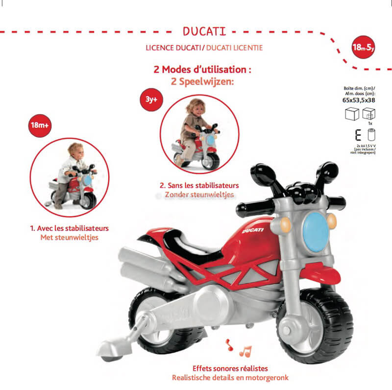 Porteur Ducati Monster 18M-5A Chicco