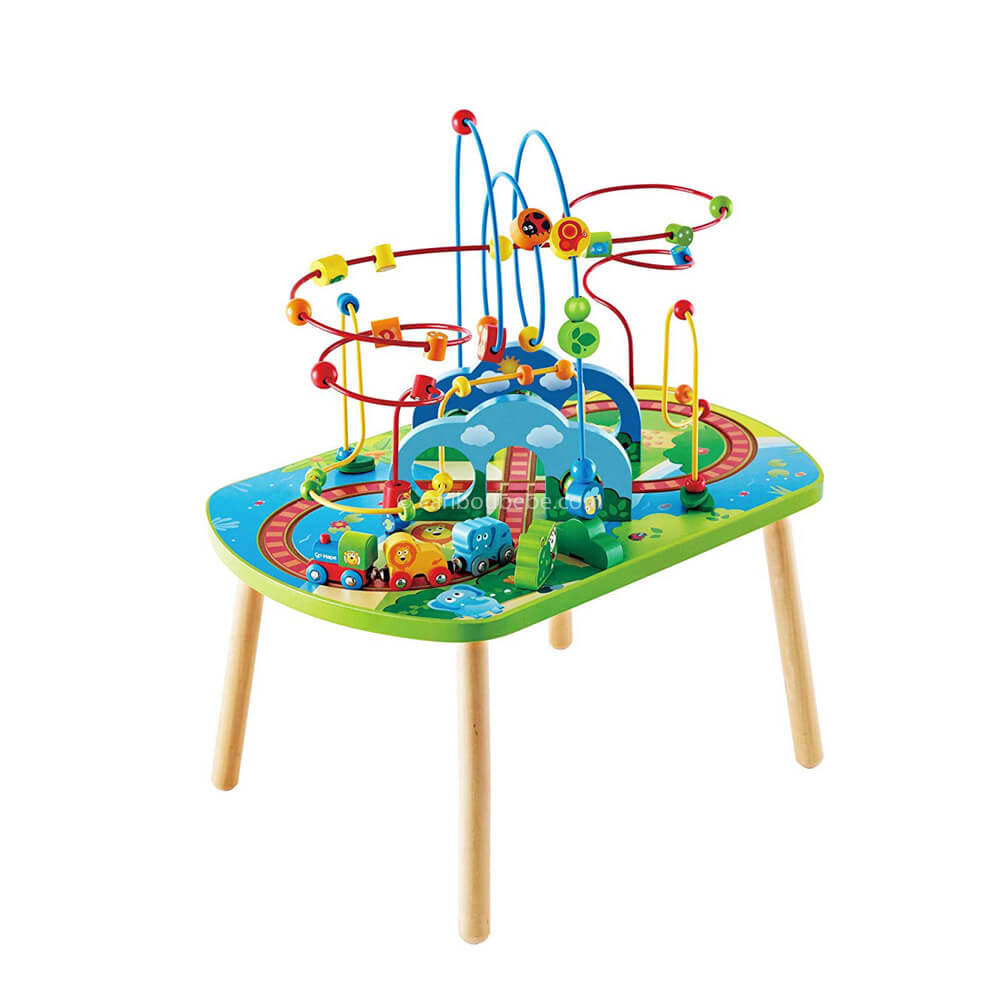 Table d'activités du Train de la Jungle +18M Hape